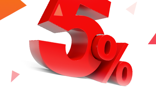 Купон на скидку 5%